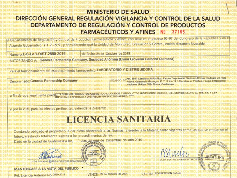 Licencia-sanitaria